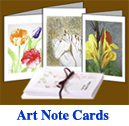 This image  of Stubbs Art Studio Art Note Cards is a link to the line Art Note Cards availalbe in our e-store.line of