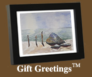 Image of a framed Gift Greetings depicting the Zen Moment print