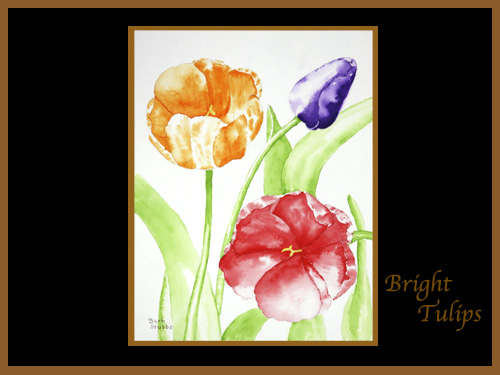 This is the enlarged image of the Bright Tulips Fine Art Print