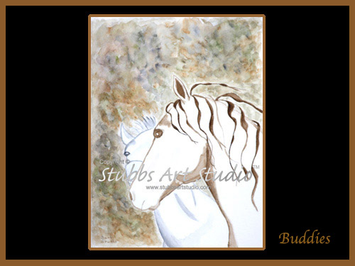 This is the enlarged image of the Buddies Fine Art Print