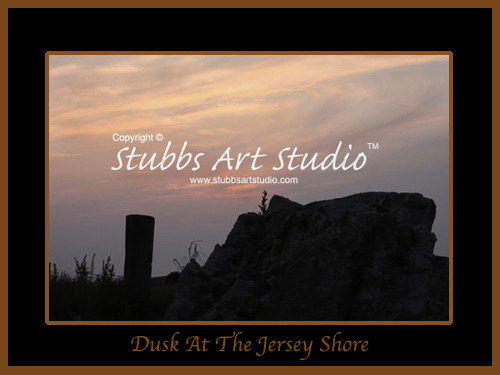 This is the enlarged image of the Dusk At The Jersey Shore Fine Art Print