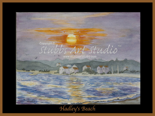 This is the enlarged image of the Hadleys Beach Fine Art Print