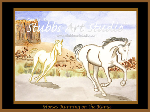 This is the enlarged image of the Horses Running On The Range Fine Art Print