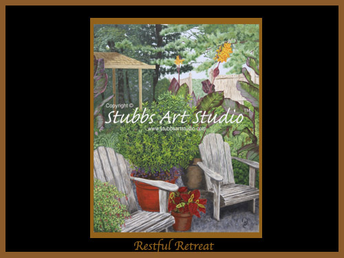 This is the enlarged image of the Restful Retreat Fine Art Print