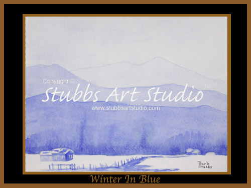 This is the enlarged image of the Winter In Blue Fine Art Print