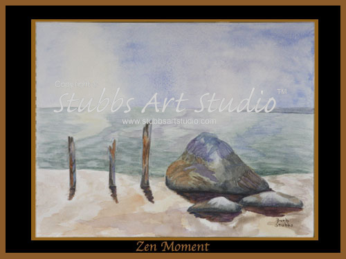 This is the enlarged image of the Zen Moment Art Print